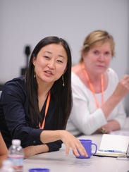 500 Startups co-founder Christine Tsai at a Women in
