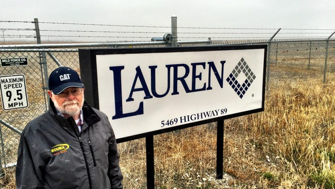 Teton County Commissioner Jim Hodgskiss stands in front of Lauren assembly yard recently after buildings were dismantled.