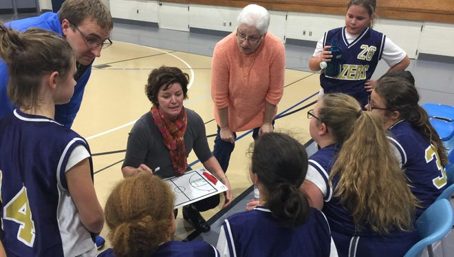 Fox Valley Christian Academy's basketball season is in full swing. Teams are made up of students in fourth through eighth grade who practice basketball drills and teamwork.