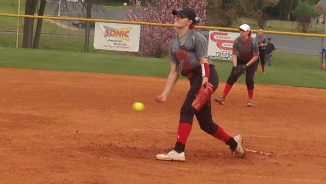 Adamsville junior Gabby Morris struck out 18 batters and allowed one hit.