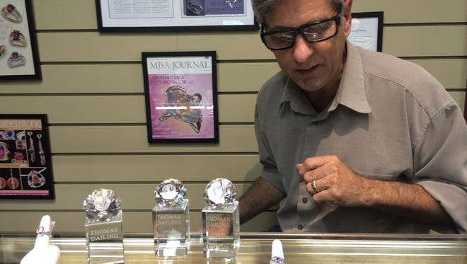 Jewelry designer Thomas Dailing has worked at Lee Ayers Jewelers for nearly 30 years.