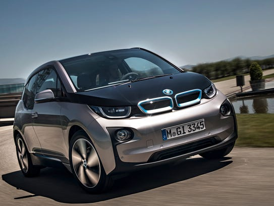 The  2014 BMW i3 electric car finds it's easy to be