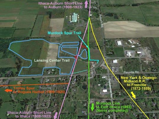 Lansing Town Talk 09-10-2015 Railroad map