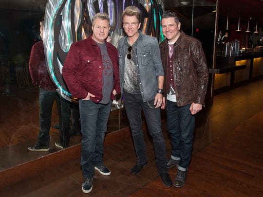 Rascal Flatts poses at The Joint in the Hard Rock Hotel