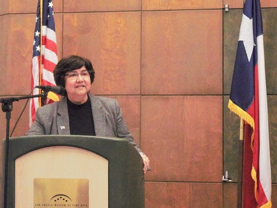 Lupe Valdez during the Governor Candidate Forum in