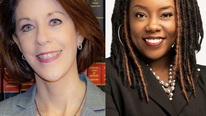 Chatham County District Attorney candidates Meg Daly Heap (left) and Shalena Cook Jones.