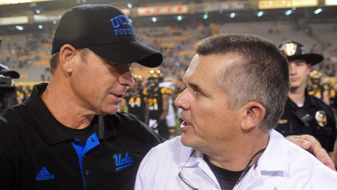 Will Jim Mora or Todd Graham get the victory in Pasadena on Saturday?
