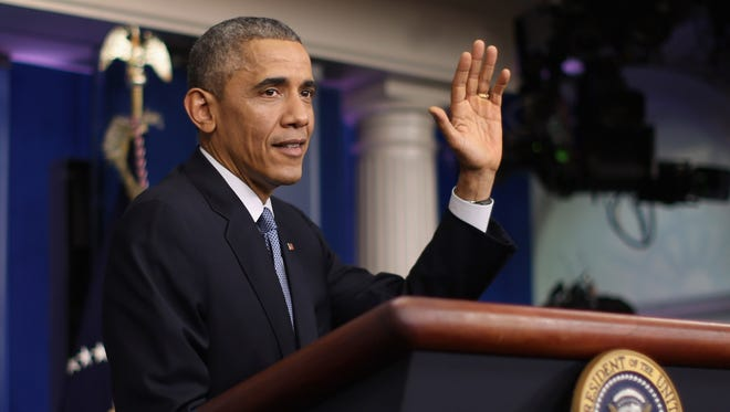 President Obama holds his final news conference of 2014.