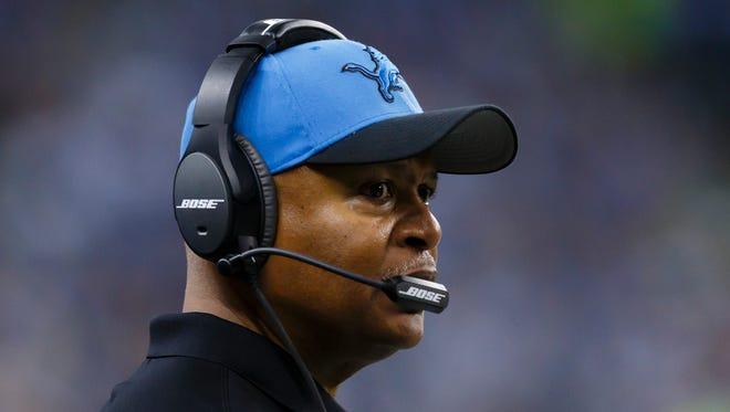 Detroit Lions head coach Jim Caldwell.