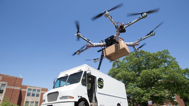 Workhorse Group and the University of Cincinnati Research Institute have collaborated to create a drone to deliver packages called HorseFly.