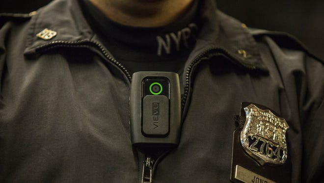 Riverside County Sheriff's Department submitted an application for grant funding to aid in the expense of body cameras for police officers. (Photo by Andrew Burton/Getty Images)