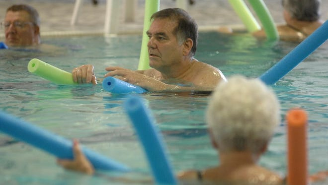 An instructor leads an arthritis therapy class at the North Central Health Care pool in this file photo. A proposal to rebuild the pool is being considered by the Marathon County Board.