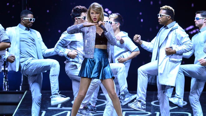 """Taylor Swift performs during the """"1989"""" World Tour at Lanxess Arena in Cologne, Germany, on June 20, 2015."""