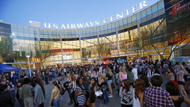 Downtown Phoenix's US Airways Center will officially assumes its new name, Talking Stick Resort Arena, on Oct. 7.
