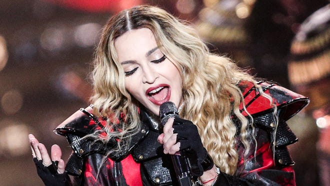 Madonna performs at the opening night of her Rebel Heart Tour at the Bell Center on Wednesday, Sept. 9, 2015, in Montreal, Quebec.