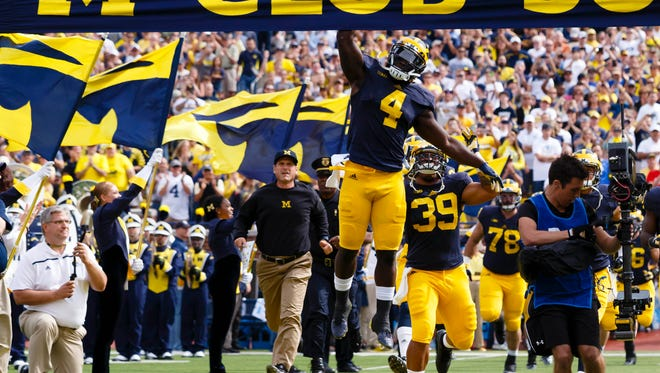 Michigan's not jumping for joy yet, but things are looking up for the Wolverines.