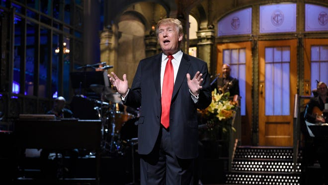 Republican presidential candidate Donald Trump hosted NBC's 'Saturday Night Live' on Saturday.