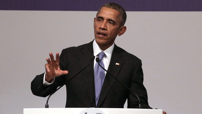 U.S President Barack Obama speaks to the media during his closing press conference on day two of the G20 Turkey Leaders Summit on November 16, 2015 in Antalya, Turkey. World leaders will use the summit to discuss issues including, climate change, the global economy, the refugee crisis and terrorism. The two day summit takes place in the wake of the massive terrorist attack in Paris which killed more than 120 people.
