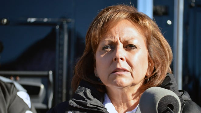 New Mexico Gov. Susana Martinez speaks during a news conference in Albuquerque, N.M.