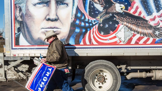Kraig Moss, a Donald Trump supporter touring Iowa ahead of the caucuses.