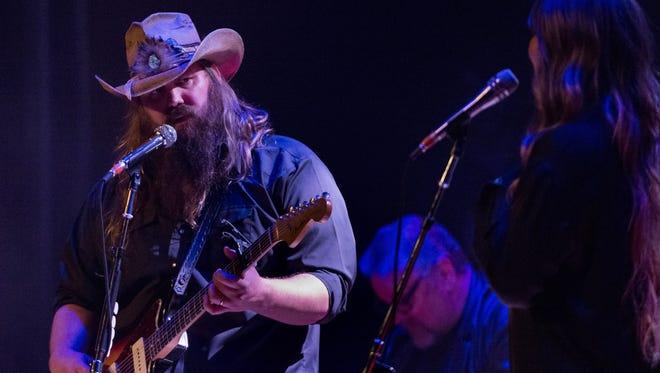 Chris Stapleton performs at Nashville's Ryman Auditorium in February.