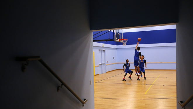 Hillcrest Prep players practicing earlier this season.