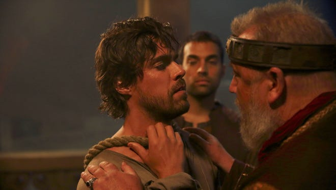 Olly Rix, left, James Floyd and Ray Winstone star in ABC's 'Of Kings and Prophets.'