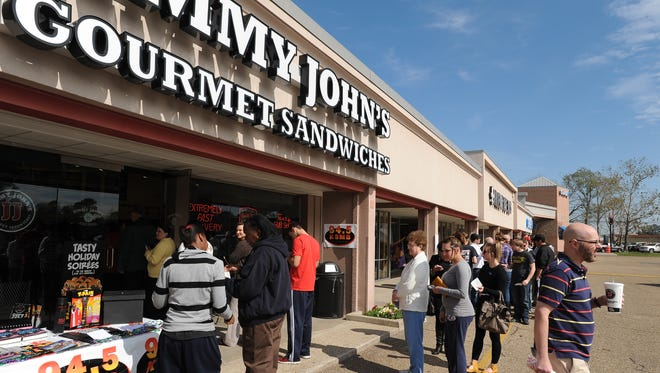 Jimmy John's is holding Customer Appreciation Day Thursday, where customers can choose from a selection of sandwiches for $1.