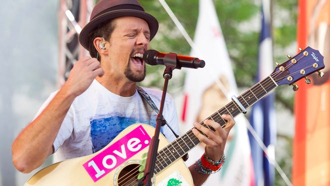 Jason Mraz will perform at The Grand in Wilmington later this month. Tickets go on sale Monday.