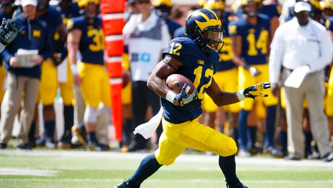 Michigan running back Chris Evans made quite the first impression last week.