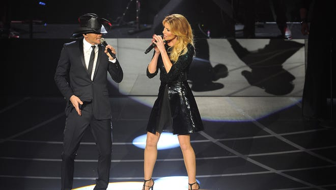 Tim McGraw and Faith Hill open their Soul2Soul concert run at the Venetian Theatre in Vegas Dec. 9, 2012.
