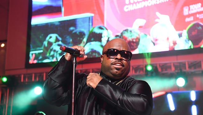 CeeLo Green performs onstage at the College Football Hall of Fame in Atlanta.