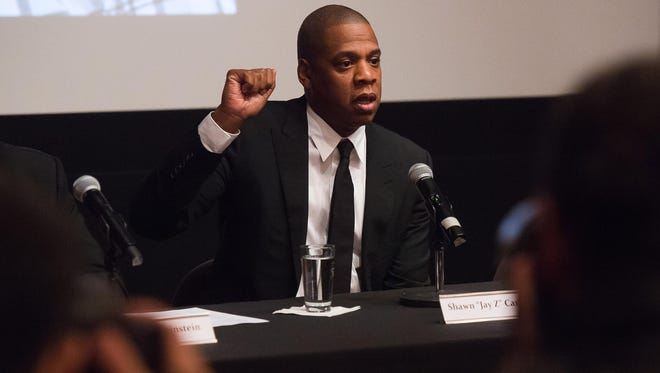 Jay Z speaks about a new TV series about juvenile justice on Thursday.