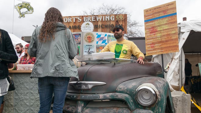 """Short's Brewing Company of Bellaire, MI, brought two of their """"Car Bars"""" to the Detroit Fall Beer Festival on Saturday, October, 24 2015."""
