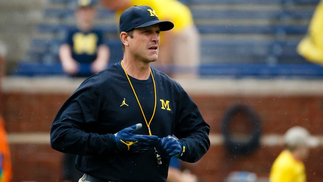 Michigan head coach Jim Harbaugh.