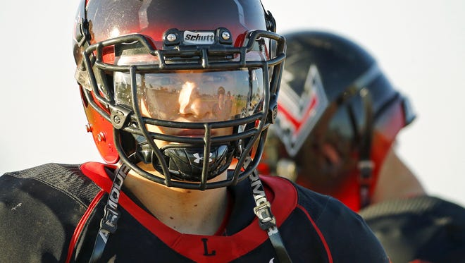 Liberty High School's Bryson Anderson during practice Tuesday, Oct. 25, 2016 in Peoria, Ariz.