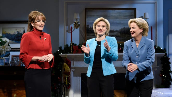 One of this election season's best 'SNL' sketches starred Tina Fey as Sarah Palin, Kate McKinnon as Hillary Clinton, and Amy Poehler as another Hillary Clinton.