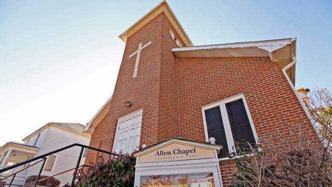 Allen Chapel, a small A.M.E. church on Sudbury St. in Staunton, will hold a vaccination clinic on April 6.