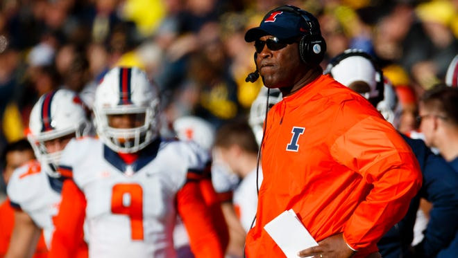 Illinois head coach Lovie Smith, who coached in the NFL from 1996-2015, has led the Fighting Illini to a 3-6 record in his first year with the team.
