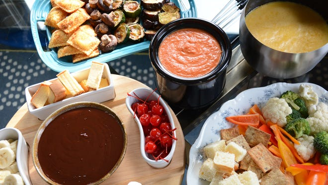 This three-course fondue menu  makes for a fun night for guests.