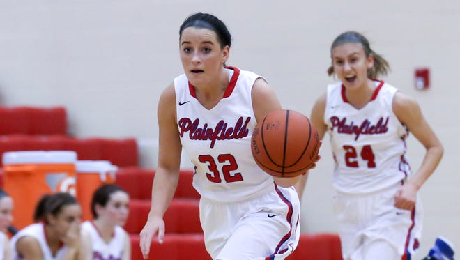 Kayla Casteel (32) and Riley Blackwell (24) have Plainfield at 12-1.