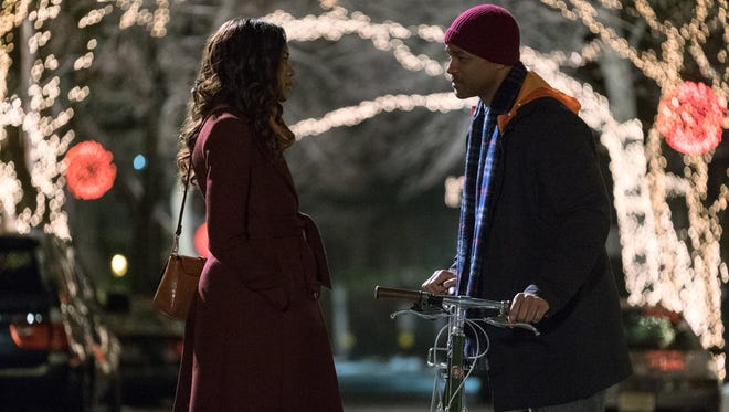 "Naomie Harris and Will Smith in ""Collateral Beauty."""