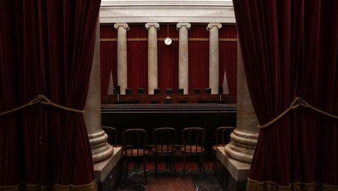 The courtroom of the U.S. Supreme Court on Sept. 30, 2016.