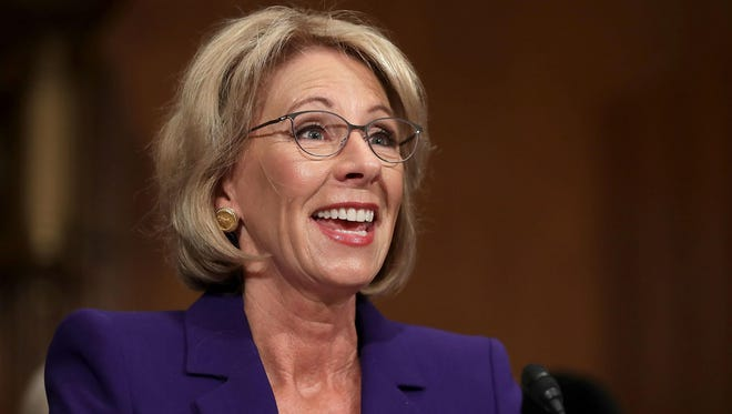 Betsy DeVos is President Donald Trump's pick to be the next secretary of Education.