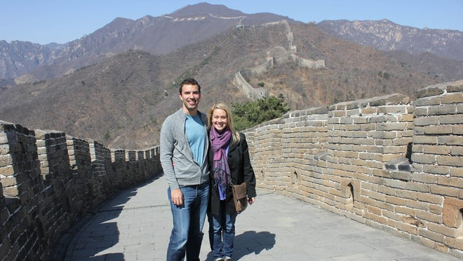 Husband and wife entrepreneurs, Jim and Julie Welch have their own company, Amaze Travel. They are at the Great Wall of China in Mutianyu, north of Beijing. It's an agency that, in the age of name-your-price online travel agencies, caters to people seeking luxury -- and personal -- experiences.
