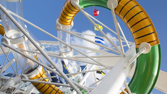 It is the first Royal Caribbean ship to feature full-scale water slides ...
