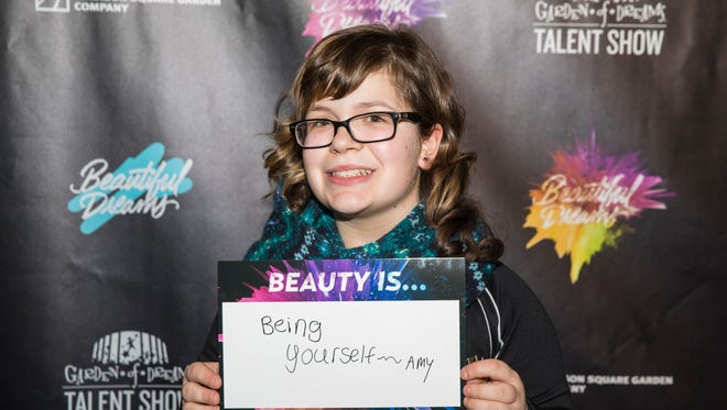 Amy Maggipinto was chosen to participate in the Garden of Dreams talent show at Radio City Music Hall.