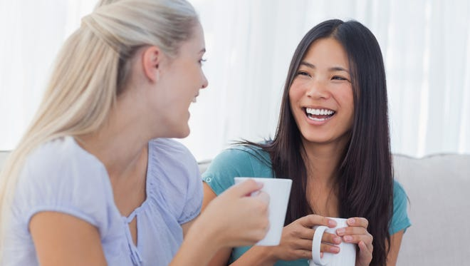 Talking over coffee, even about politics, can help ease the tension.