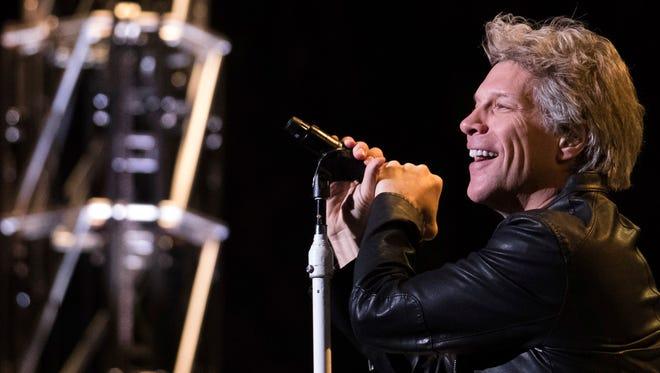Jon Bon Jovi performs with Bon Jovi at Madison Square Garden on Thursday.
