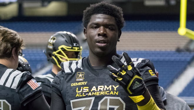 D'Antne Demery at the U.S. Army All-American Bowl.